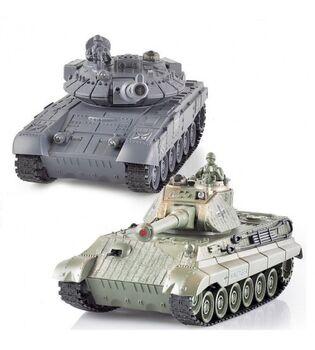 Радиоуправляемый танковый бой Zegan 99820 T-90 vs King Tiger 1:28