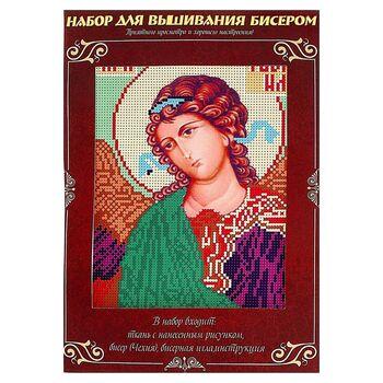 Вышивка бисером Святой Архангел Гавриил, размер основы 21,5*29 см