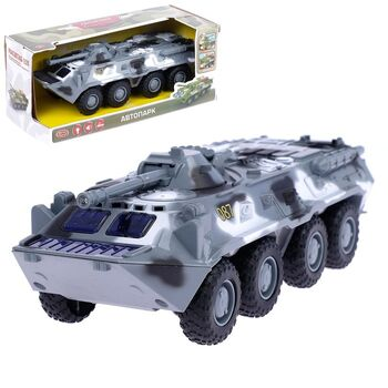 Машина инерционная Военная, масштаб 1:35, свет и звук