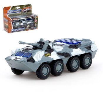 Машина металлическая Военная, масштаб 1:54, свет и звук, инерция