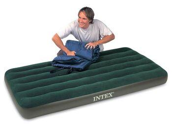 Матрац-кровать надувной односпальный зеленый, 99х191x22 см