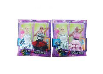 Одежды и аксессуары для куклы высотой 29 см 2 вида  (2 платья, обувь, сумочка, расческа)