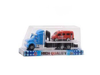 Машинка Автовоз с одной машинкой, набор, пластмассовая, 19,50х6,50х8,50 см