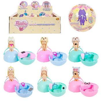 Пупс-куколка (сюрприз) в шаре, серия Baby boutique, с аксессуарами, 6 шт в ассртименте