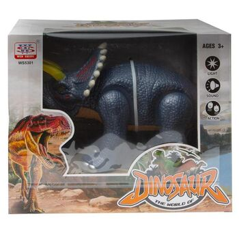 Интерактивный динозавр Трицератопс, световые и звуковые эффекты, 3 цвета в ассортименте
