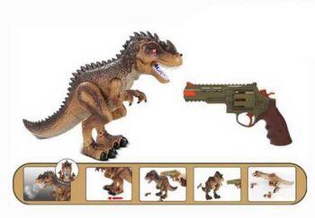 Динозавр, в комплекте с пистолетом Охота на динозавра на инфракрасном управлении