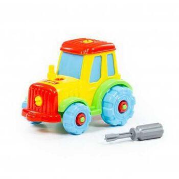 Конструктор транспорт Трактор (20 элементов) (в пакете)