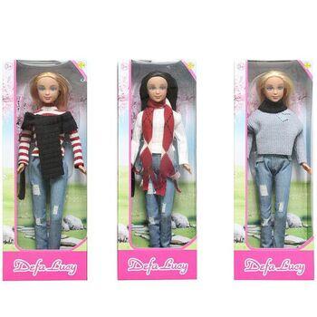 Кукла Defa. Lucy в свитере и шарфе, 3 вида в ассортименте