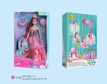 Кукла Defa. Lucy Кукла, превращается в русалку, в наборе с расческой, 2 вида