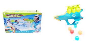 Бластер для снежков 2 в 1 Зимние забавы, 2 цвета в ассортименте (зеленый, голубой)
