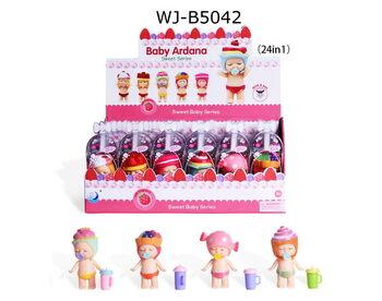 Пупс-куколка в индивидуальной капсуле, серия Сладости, 24 шт. в дисплее 6 видов в ассортименте,