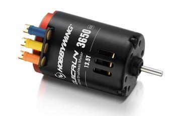 Бесколлекторный сенсорный мотор QuicRun 17.5T:3650 G2 для шоссейных и дрифтовых моделей масштаба 1:1