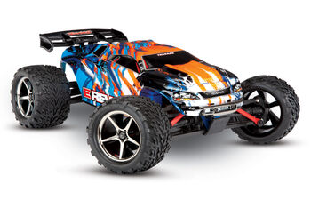 Радиоуправляемая машина Traxxas E-Revo 1:16 4WD Brushed TQ Fast Charger Orange