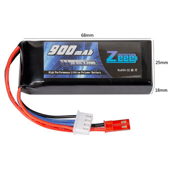 Аккумулятор Zeee Power 3s LiPo 11.1v 900mah 45c SOFT