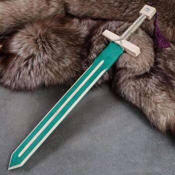 Сувенир деревянный Меч рыцаря, 57 см, массив бука, микс