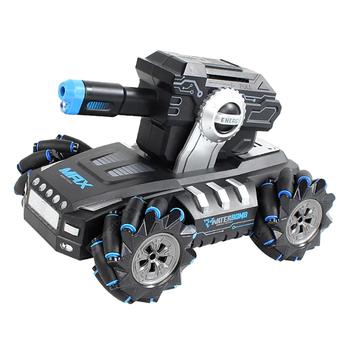 Радиоуправляемый дрифт танк-робот  (пульт + часы, стреляет гелевыми пулями) - QR2076-BLUE