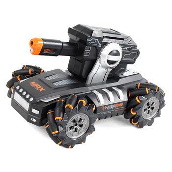 Радиоуправляемый дрифт танк-робот  (пульт + часы, стреляет гелевыми пулями) - QR2076-ORANGE