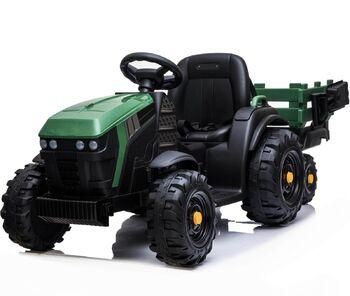 Электромобиль Bettyma трактор с прицепом 2WD 12V - BDM0925-GREEN