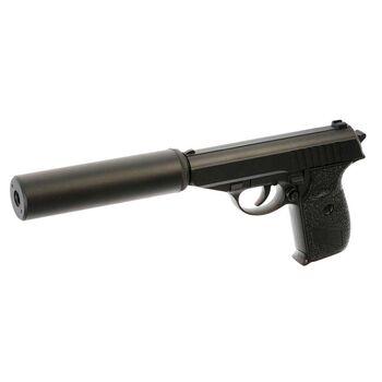 Пистолет пневматика металлический 15 см с глушителем - G.3A