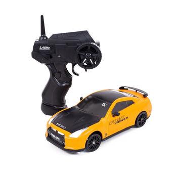 Радиоуправляемая машина для дрифта Nissan GT-R (19 см, 15 км/ч, сменные колеса, фишки) - SC24A02
