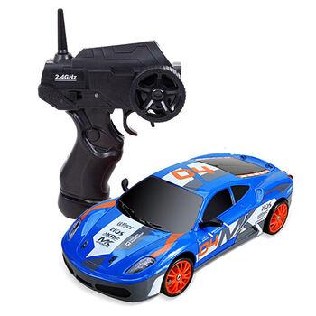 Радиоуправляемая машина для дрифта Ferrari F430 (19 см, 15 км/ч, сменные колеса, фишки) - SC24A09