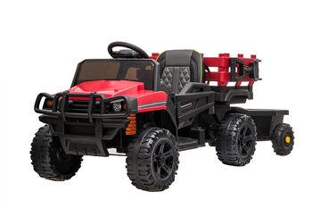 Электромобиль Bettyma квадроцикл с прицепом 2WD 12V - BDM0926-RED