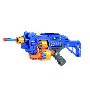 Автомат пулемет синий на батарейках с мягкими пулями - G2A
