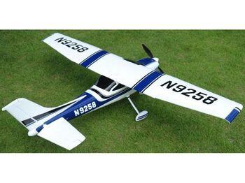 Радиоуправляемый самолет Top RC Cessna 182 500 class синяя 1410мм 2.4G 4-ch LiPo RTF