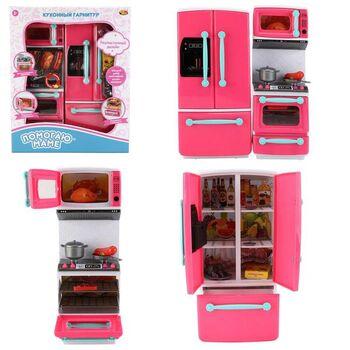 Помогаю Маме. Кухонный гарнитур в наборе с аксессуарами, со световыми и звуковыми эффектами (пластик)