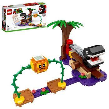Конструктор LEGO Super Mario Дополнительный набор «Кусалкин на цепи — встреча в джунглях»