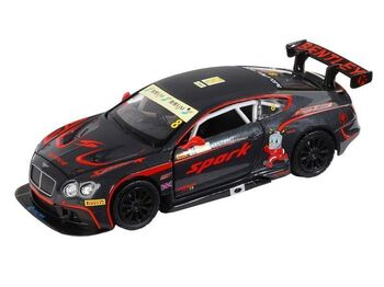 "Машина ""АВТОПАНОРАМА"" Bentley Continental GT3, черный, 1/32, в/к 17,5*13,5*9 см"