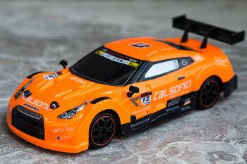 Радиоуправляемая машина для дрифта Nissan GTR R35 Nismo 1:18 4WD 2.4g оранжевый
