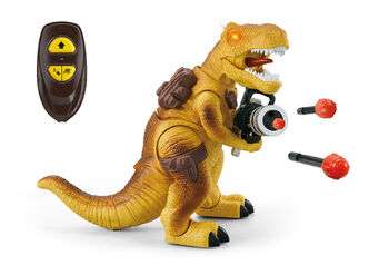 Радиоуправляемый желтый динозавр Ти-Рекс (свет, звук, стреляет пулями) - DT-6036-YELLOW