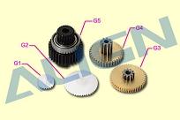 Шестерни G1, G2, G3, G4, G5 сервомашинки DS410