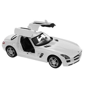 Машина Rastar 47600 Mercedes-Benz SLS AMG 1:14, цвет белый 27MHZ открываются двери