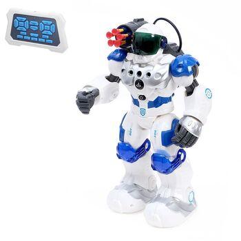 Робот радиоуправляемый, интерактивный Полицейский, свет и звук, стреляет присосками, работает от аккумулятора