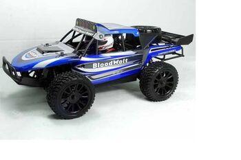 Радиоуправляемая багги HSP Bloodwolt 4WD 1:14 (синяя)