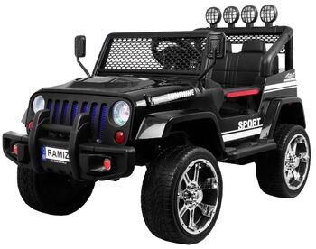 Электромобиль Black Jeep 4WD 12V - S2388