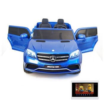 Электромобиль Mercedes Benz GLS63 LUXURY 4WD 12V MP4 - Blue - HL228-LUX-MP4