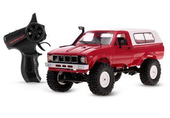 Радиоуправляемый внедорожник красный 1:16 электро - RC Military Truck Buggy Crawler PRO