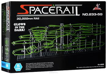Конструктор Space Rail серия Glow In The Dark 5 уровень