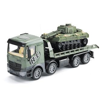 Радиоуправляемый грузовик-трейлер + танк CityTruck 1:24 - 553-B3