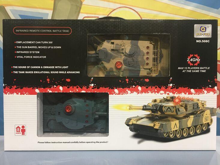 Радиоуправляемый танковый бой HuanQi 1:32 Tiger vs Leopard 2.4G