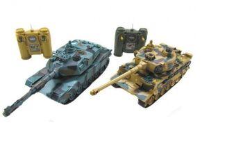 Радиоуправляемый танковый бой Zegan Leopard 2A5 vs Tiger I
