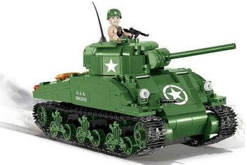 Пластиковый конструктор COBI Sherman M4A1