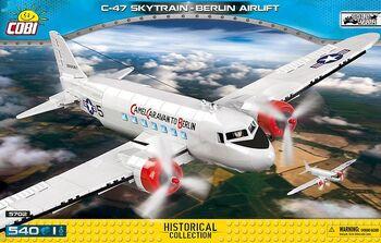 Пластиковый конструктор COBI C-47 Skytrain Berlin Airlift