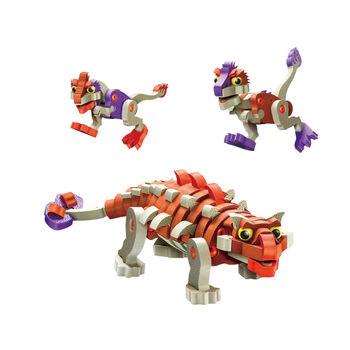 Мягкий конструктор из EVA Soft Blocks Анкилозавр и малыши 200 деталей - 3504