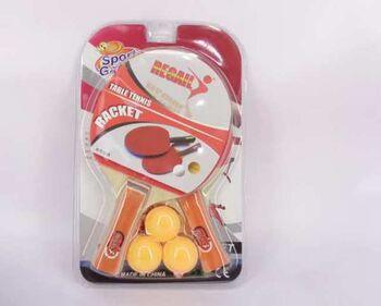 Теннис настольный: 2 ракетки, 3 шарика, 20х4х32 см