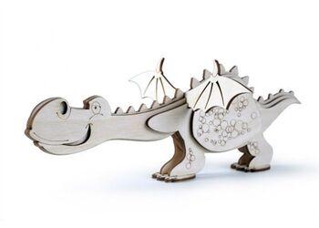Конструктор 3D деревянный Lemmo Дракон - СК-6