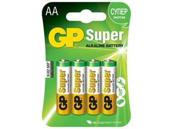 Батарейки для пульта управления GP Super Alkaline AA типа (4 шт.)